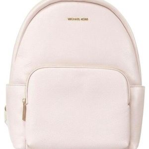 Michael Kors Powder Blush Large Leather Backpack